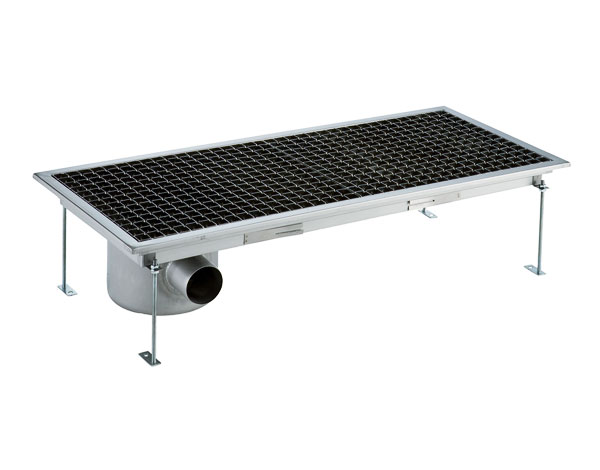 Crystal UMHU0606   Industrial Floor Drain / Horizontal Outlet Ø:70 mm, 138x30x15 cm