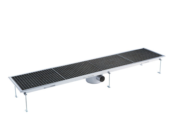 Crystal UMHU0608   Industrial Floor Drain / Horizontal Outlet Ø:70 mm, 182x30x15 cm
