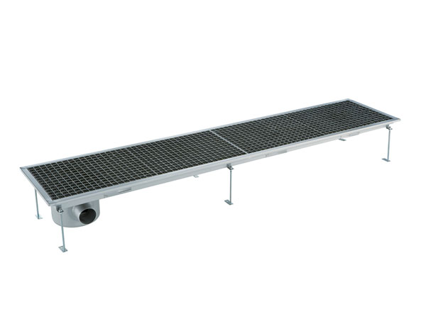 Crystal UMHU0609   Industrial Floor Drain / Horizontal Outlet Ø:70 mm, 207x30x15 cm