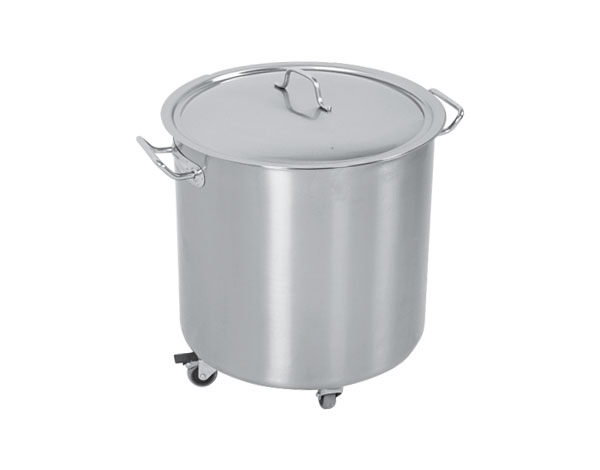 Crystal UMHU0301   Waste Container with Wheels / Stainless Steel  Q:40 cm H:50 cm
